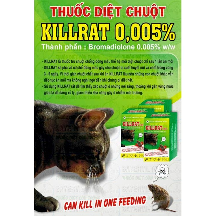Thuốc diệt chuột sinh học Killrat Bio-Mouse
